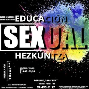 Cartel Curso Verano Educación Sexual